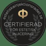 MyBeauty Clinic är certifierad för estetisk injicering via Estetiska Injektionsrådet.
